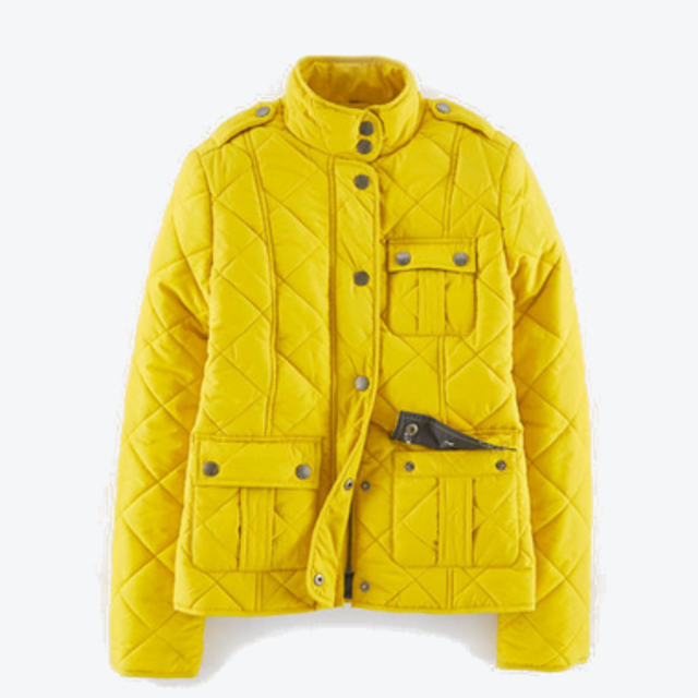 Yellow quilted jacket endource for Boden quilted jacket