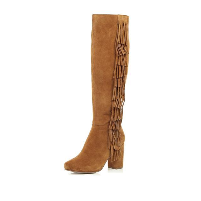 fringe knee high boots endource
