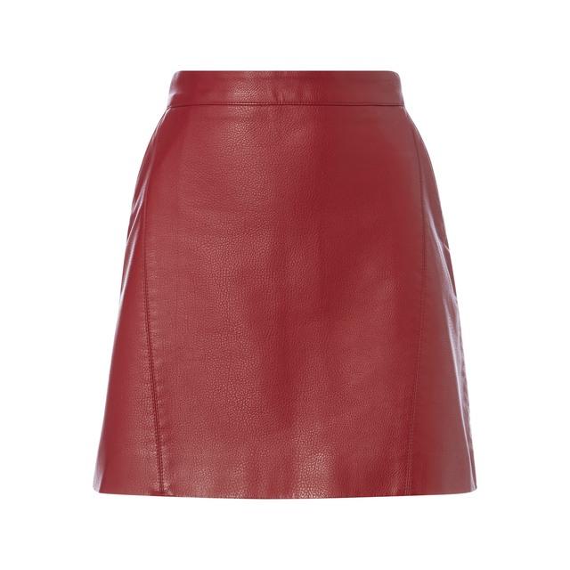 yet not vulgar promo code lovely luster PU Mini Skirt