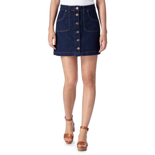Button Through Denim Skirt | Endource