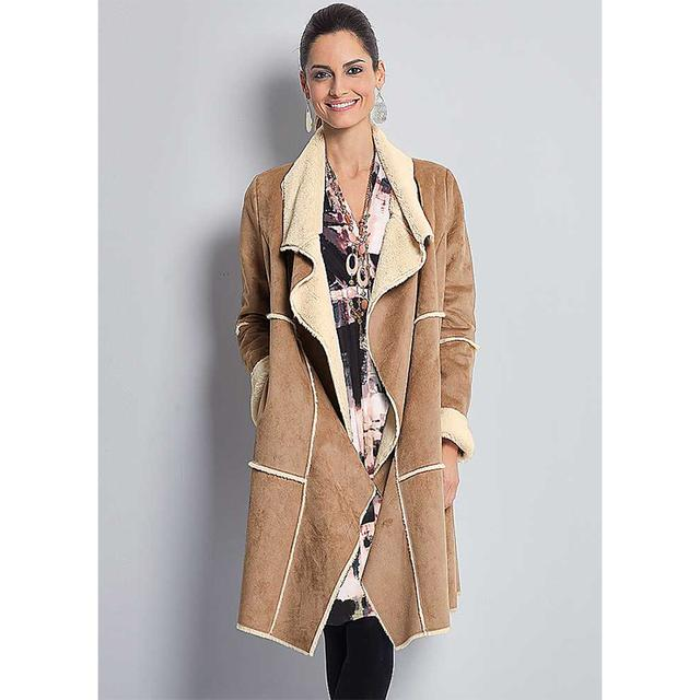 Together Faux Sheepskin Coat | Endource