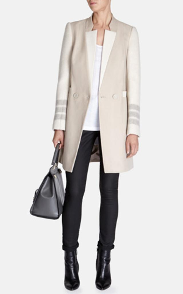 Masculine double breasted coat endource for Boden jennie coat