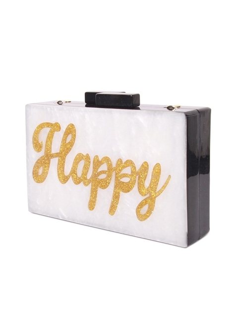 Happy Perspex Clutch Bag   Endource 92789d1749