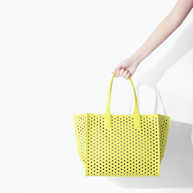 Zara Perforated Shopper Bag Large Perforated Shopper Bag