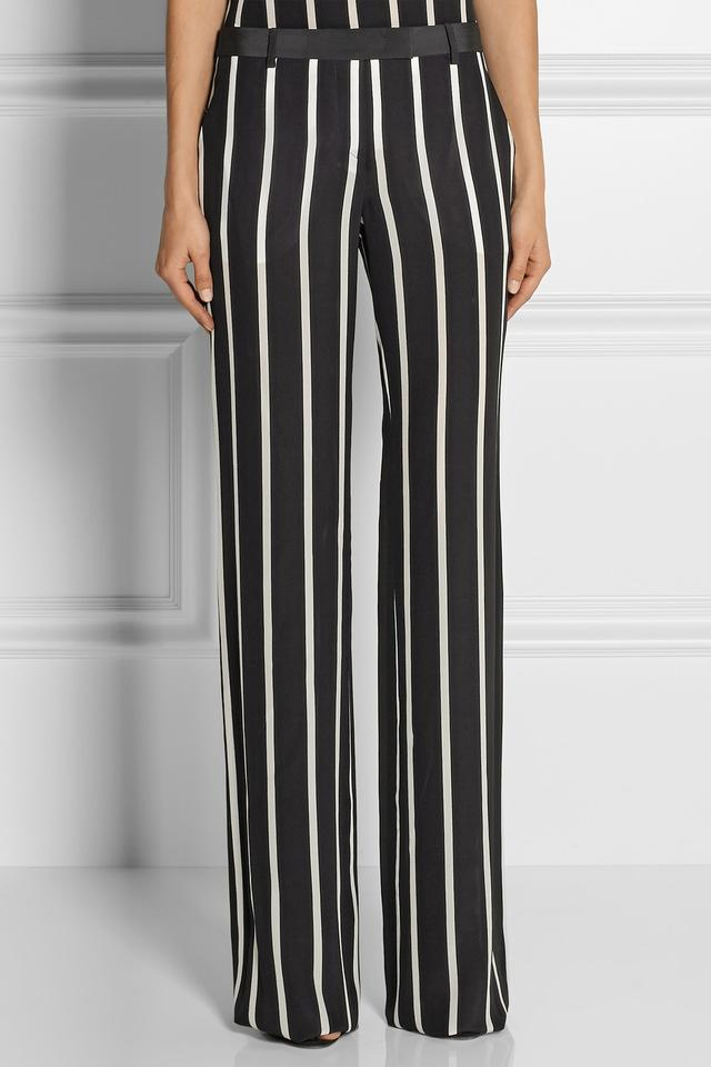 Striped Silk Crepe de Chine Wide-leg Pants | Endource