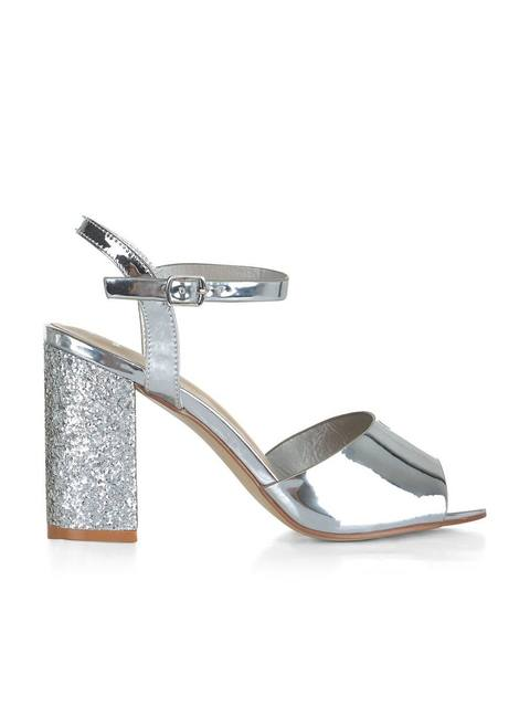 351cd0b41b6 Wide Fit Glitter Block Heels