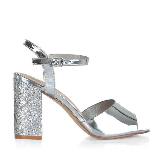 31a532763f51 Wide Fit Glitter Block Heels