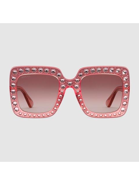 d21d41fd3712 Oversize Square-frame Embellished Sunglasses