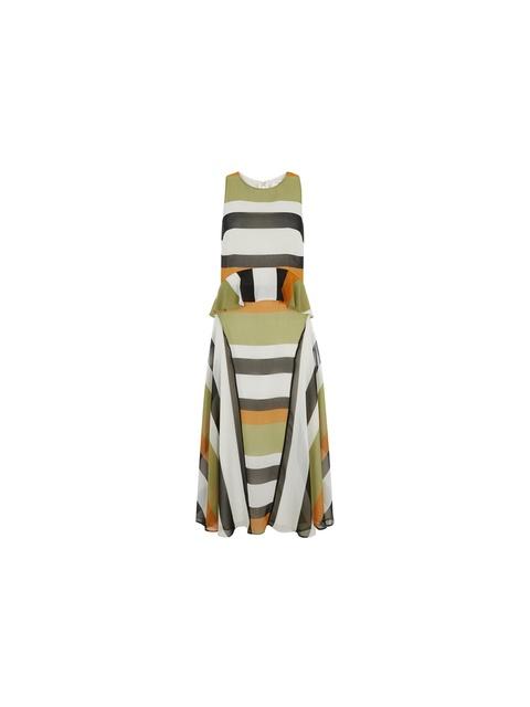4c10f52e432 Graphic Stripe Midi Dress