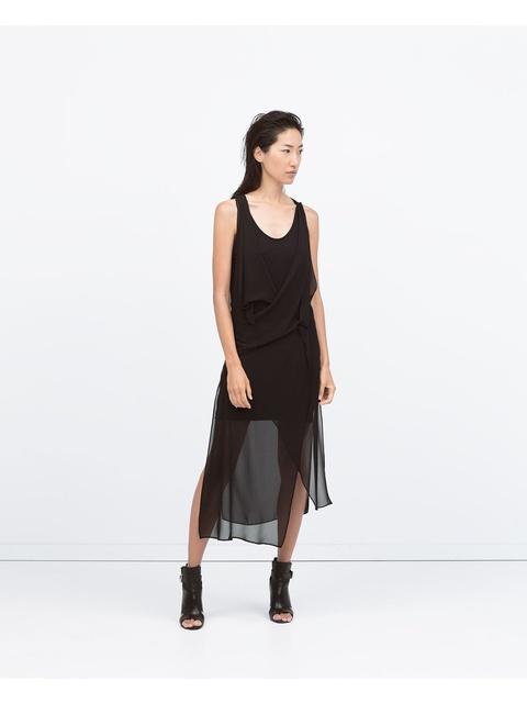 b1aa251b8f576 Draped Sleeveless Dress