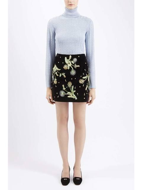 82d362d930 Brunswick Velvet Mini Skirt | Endource