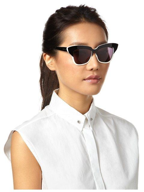 6faa472cf8a6 Monochrome Cat-Eye Sunglasses | Endource