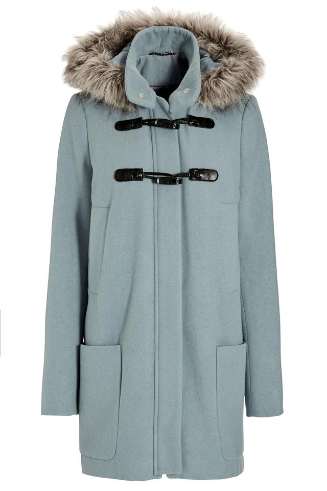 Duffle Coat With Faux Fur Hood Trim | Endource