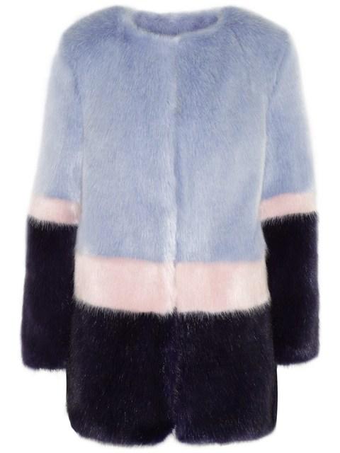 397e2e16cf5 SHRIMPS Mabel color-block faux fur coat