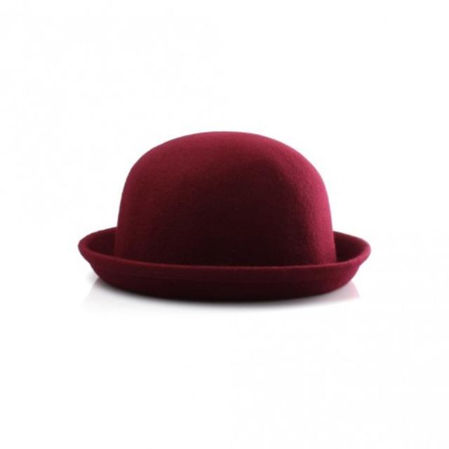 Burgundy Bowler Hat  d94ca90119a