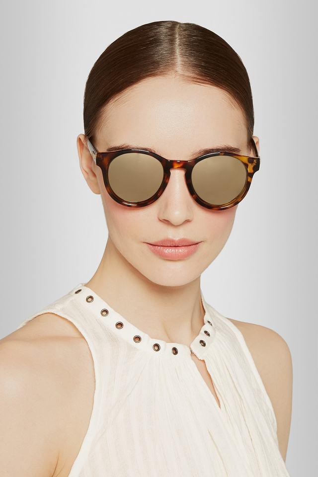 Hey Macarena Round-frame Acetate Sunglasses - Tortoiseshell Le Specs PCQlpKG4