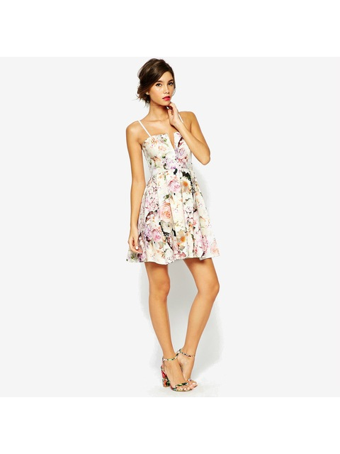 43d7cae71aa1 Notch Bandeau Floral Mini Dress | Endource