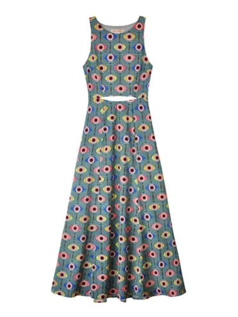 Blue Iris Cutout Waist Dress Endource