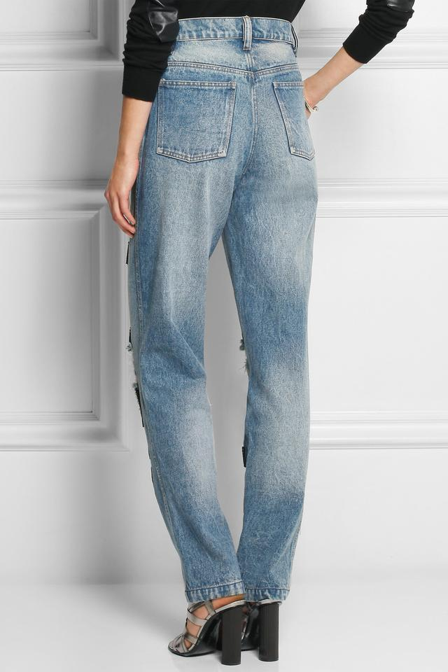 Vogue Embellished High-rise Boyfriend Jeans | Endource