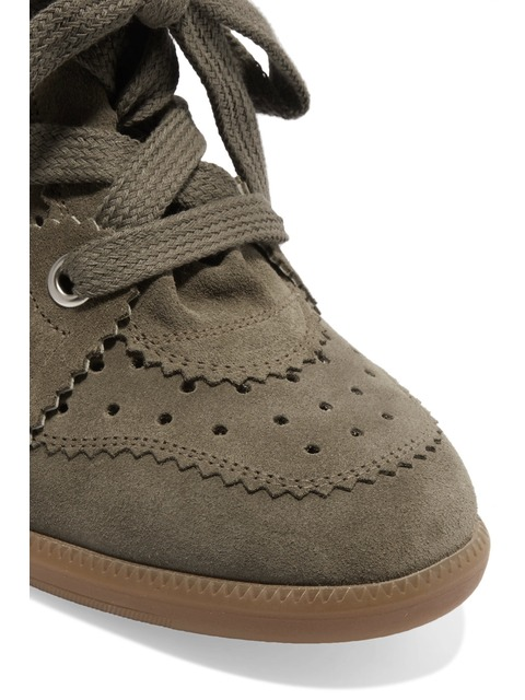 0393a8215e0 Étoile Bobby Suede Wedge Sneakers | Endource