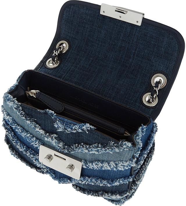 Sloan Denim Chevron Shoulder Bag | Endource