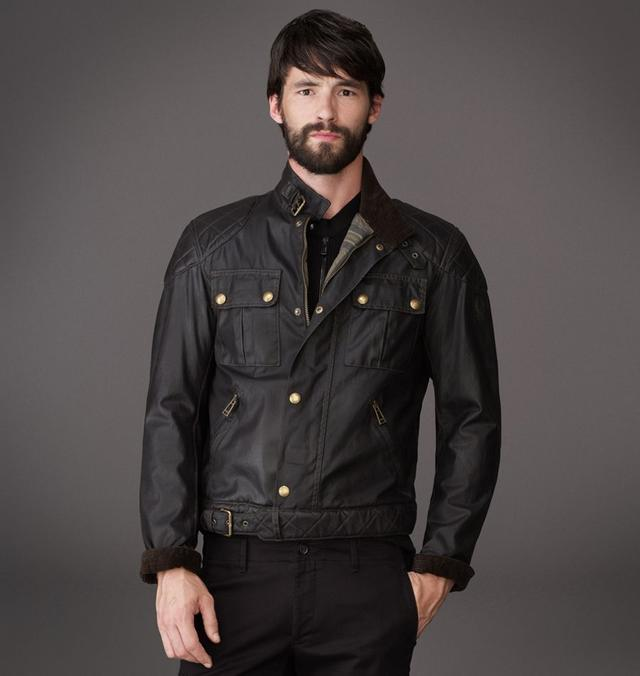 The S Icon Blouson Jacket In Vintage Waxed Cotton Endource