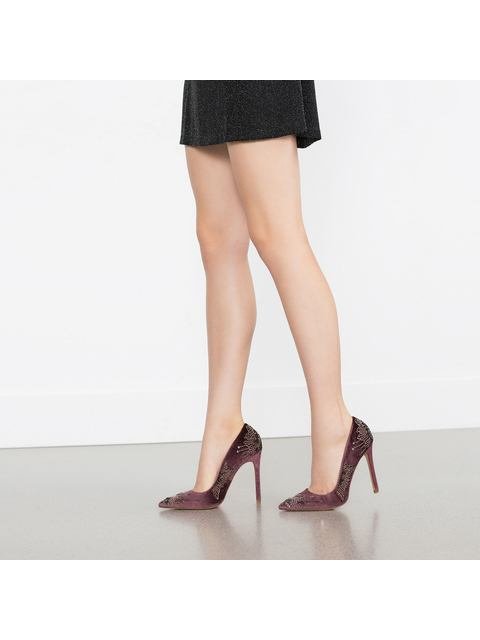 274b3ccd46e Embroidered High Heel Shoes