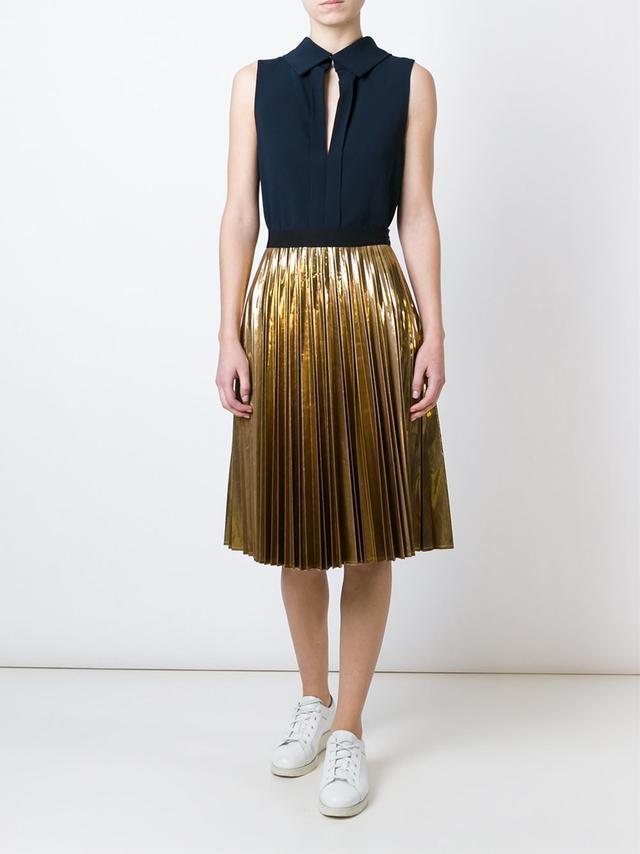 pleated a line skirt endource