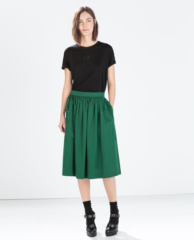 green midi skirt endource
