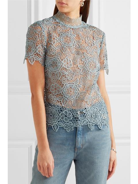 bd7e9fc7508efb Guipure Lace Open-back Top | Endource