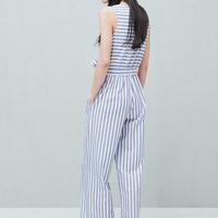 a8bcf3a9023b Striped Cotton Jumpsuit