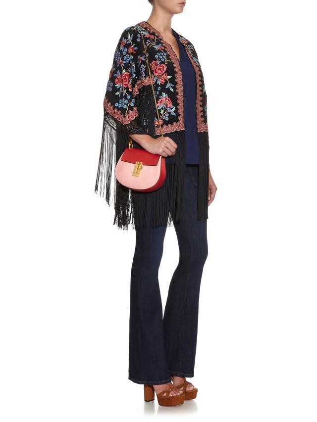 chloe bag sale uk - Drew Small Leather and Suede Shoulder Bag | Endource