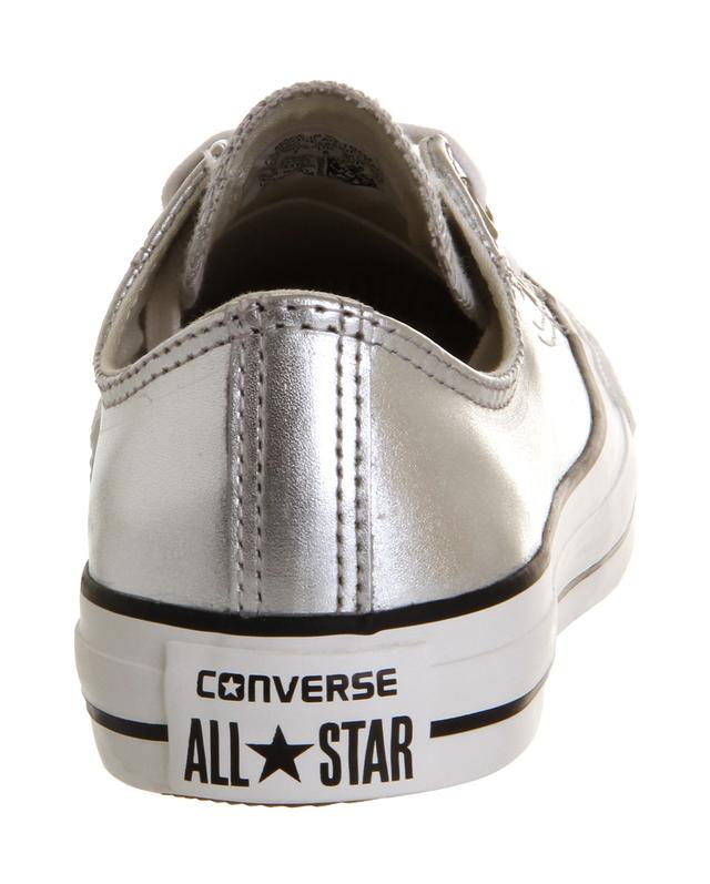 converse as ox metallic silver