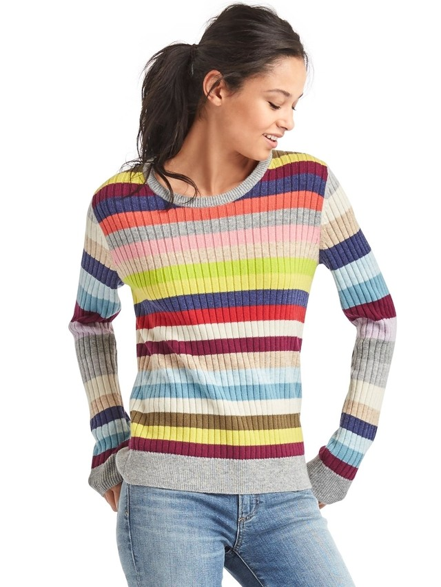 Crazy Stripe Ribbed Sweater | Endource