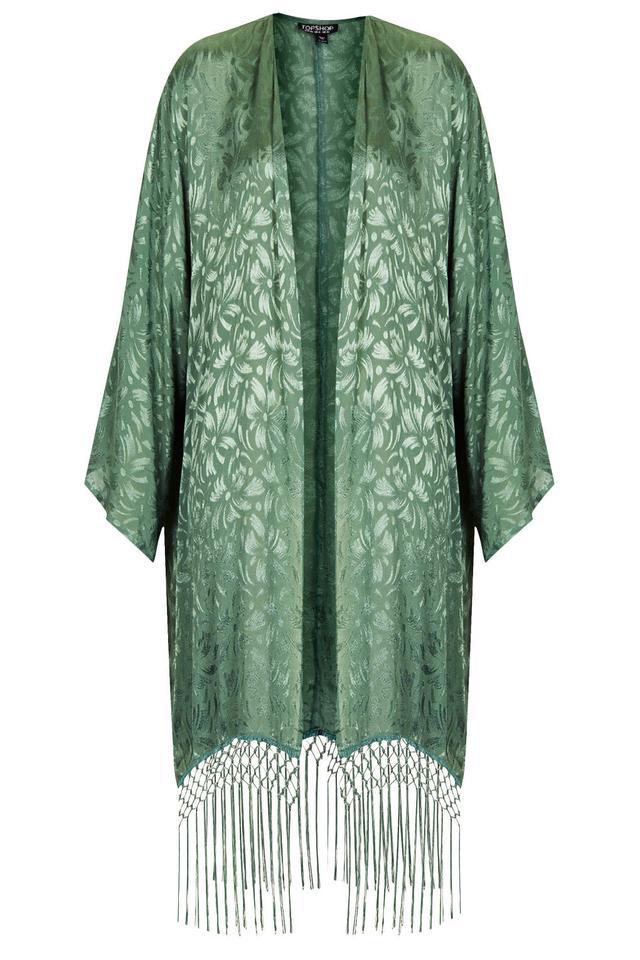 Long Fringe Kimono