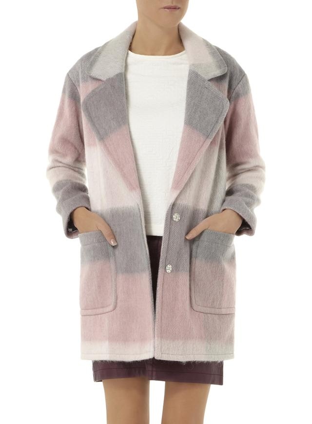 Pink Check Boyfriend Coat | Endource