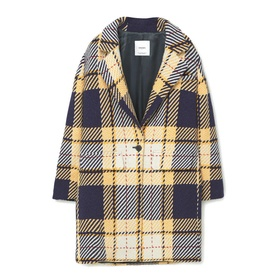 Check Wool-Blend Coat by Mango