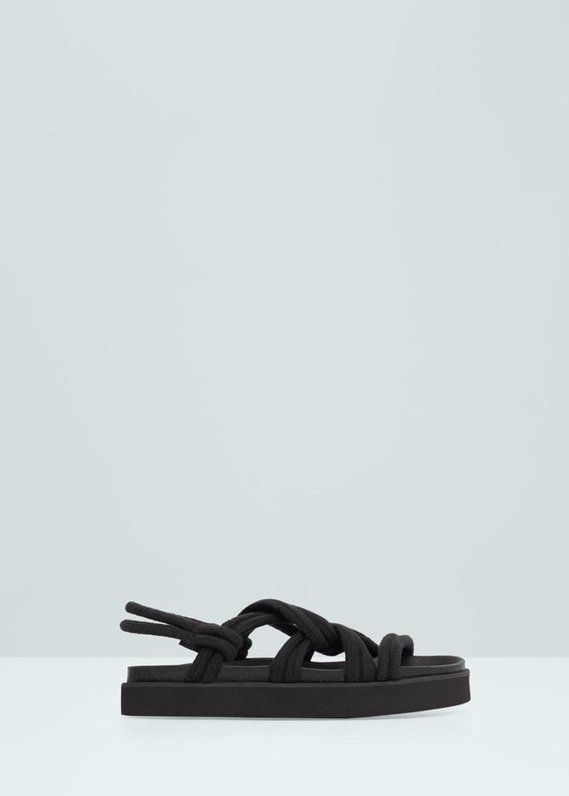 482a6159bba Interwoven Cord Sandals