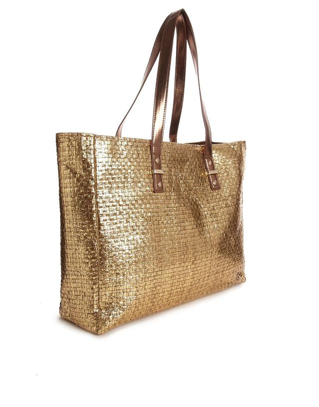 New Look Metallic Gold Beach Bag | Endource