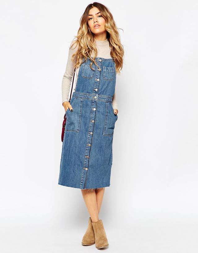 Denim Pinafore Dress Endource