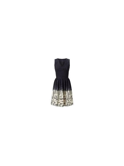 Closet Black Scratch Print Contrast V Neck Skater Dress Endource