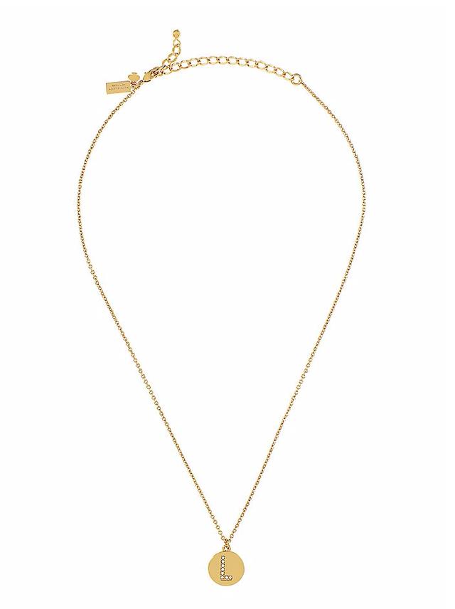 L initial pendant necklace endource l initial pendant necklace mozeypictures Choice Image