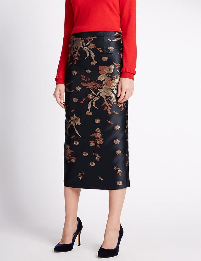 Textured Pencil Skirt   Endource