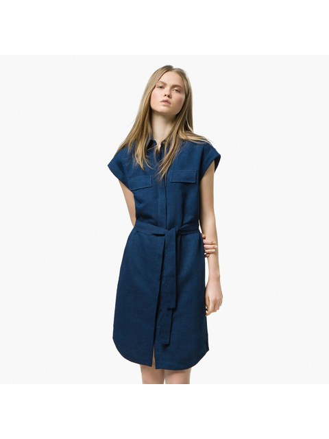 1712768130 Denim Shirt Dress