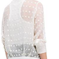 491d0f7cad709 Oltane Spotted Silk Blouse