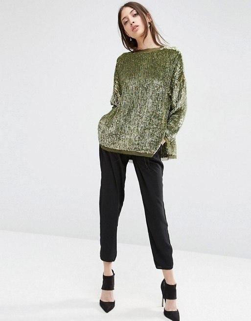 Oversized Sequin Sweater | Endource