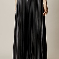 97ca0358c3c Wetlook Pleated Skirt