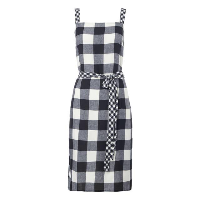 Belted Gingham Dress | Endource