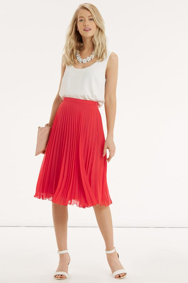 Pleated Midi Skirt | Endource