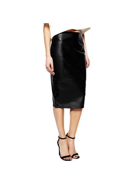5d63edfcb296 Asos Tall Pencil Skirt In Leather Look | Endource
